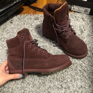 MAROON TIMBERLAND SHOES